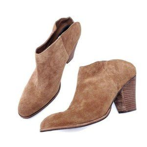 Dolce Vita Brown Suede Leather Ankle Heel Booties